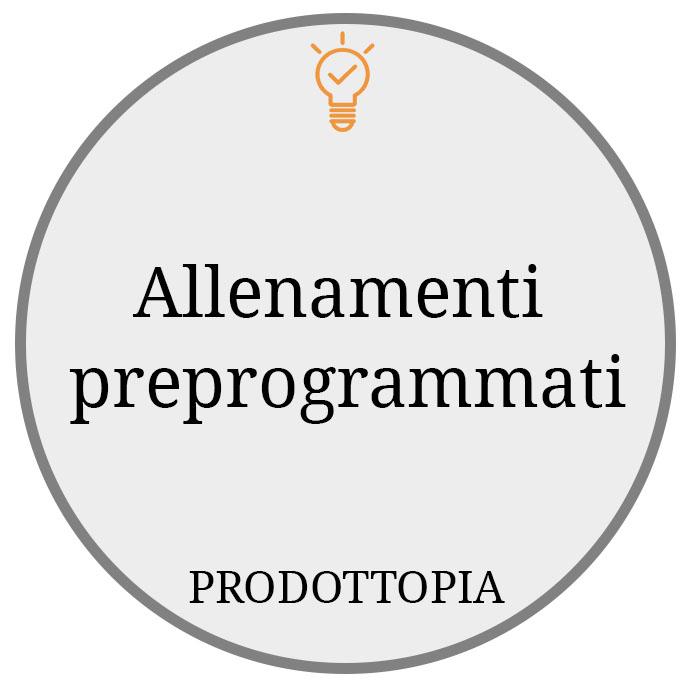 Allenamenti preprogrammati
