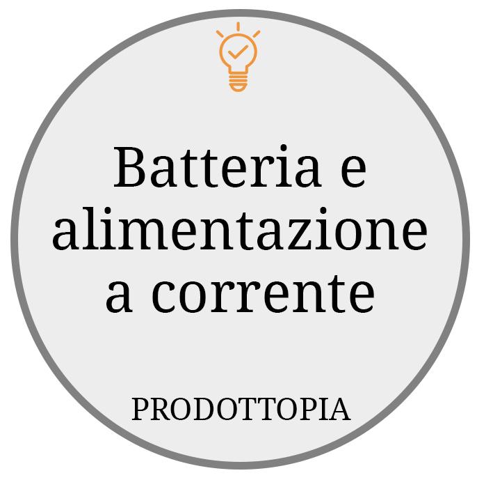 Batteria e alimentazione a corrente