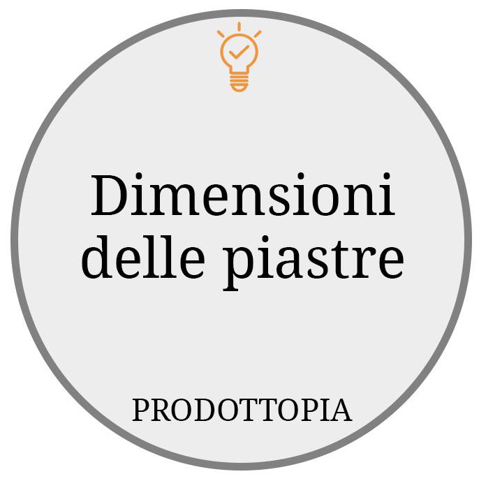 Dimensioni delle piastre