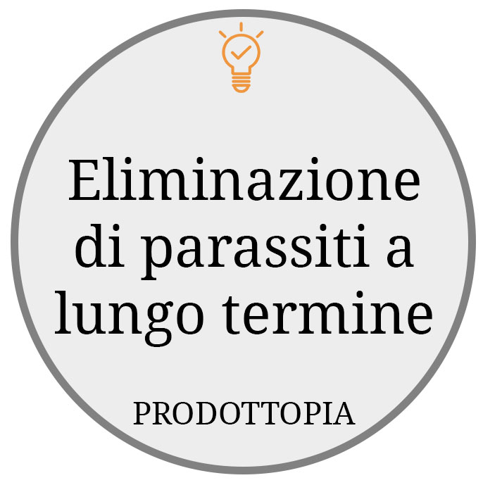 Eliminazione di parassiti a lungo termine