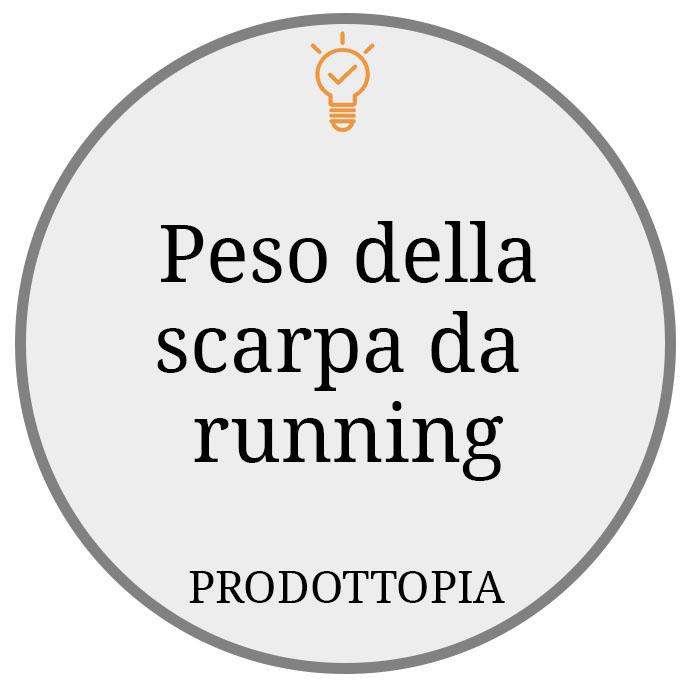 Peso della scarpa da running