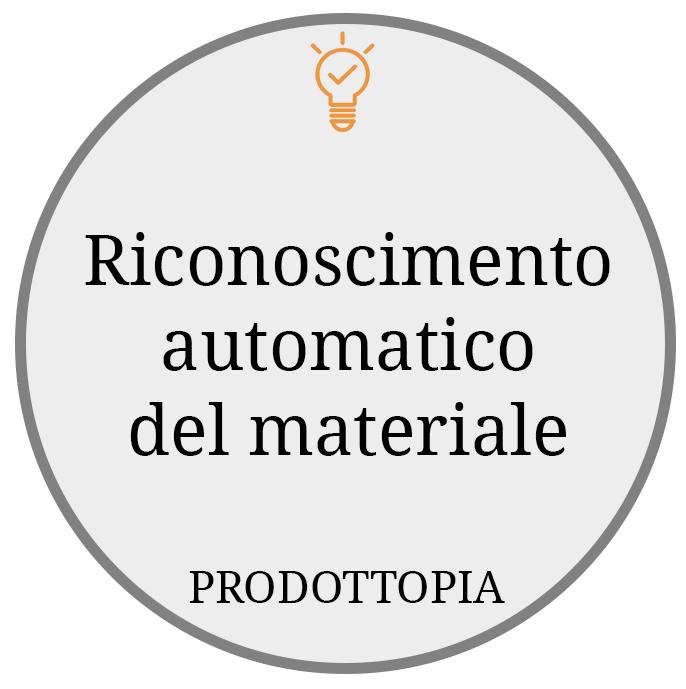Riconoscimento automatico del materiale