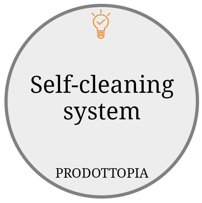 Self-cleaning system