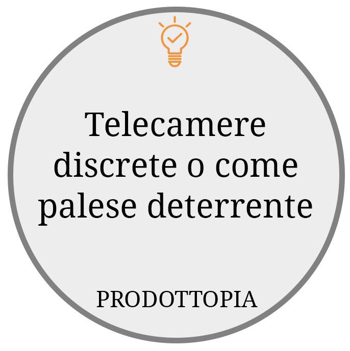 Telecamere discrete o come palese deterrente