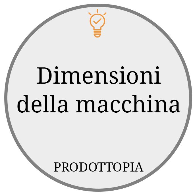 Dimensioni della macchina